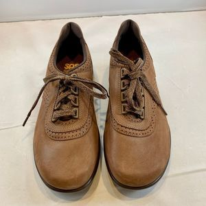 SAS Women's Lace Up Walk Easy Brown Leather SZ 8W